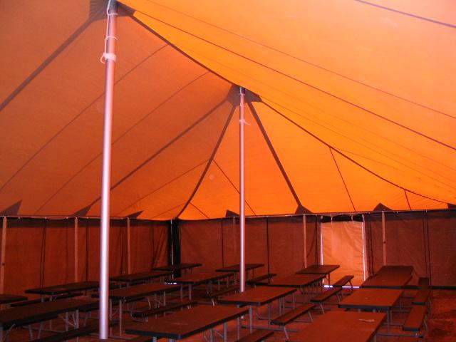 Military Tent, GSA, Tan Tent, Interior, March 2008
