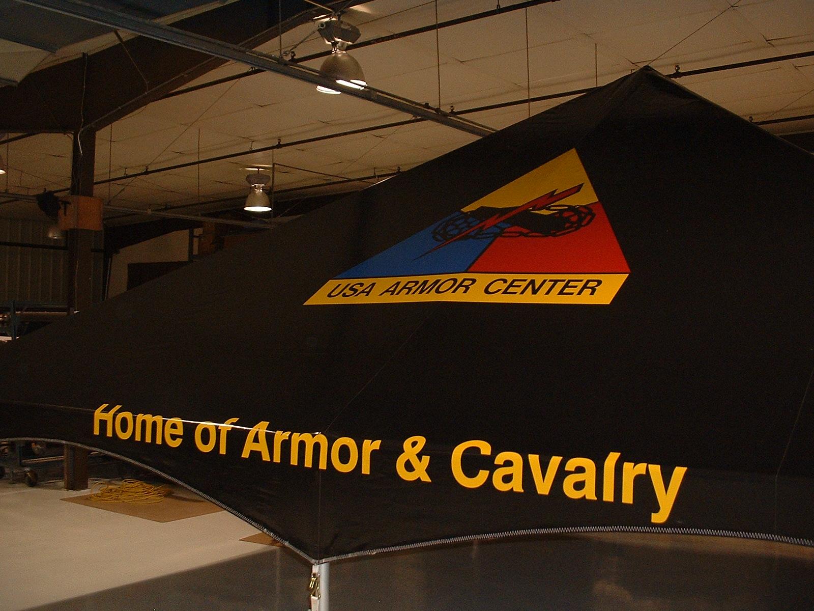 Military Tent, GSA, USA Armor Center, Home of Amor & Cavalry