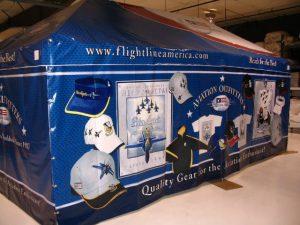 Military Tent, GSA, Flight Line America, May 30, 2008