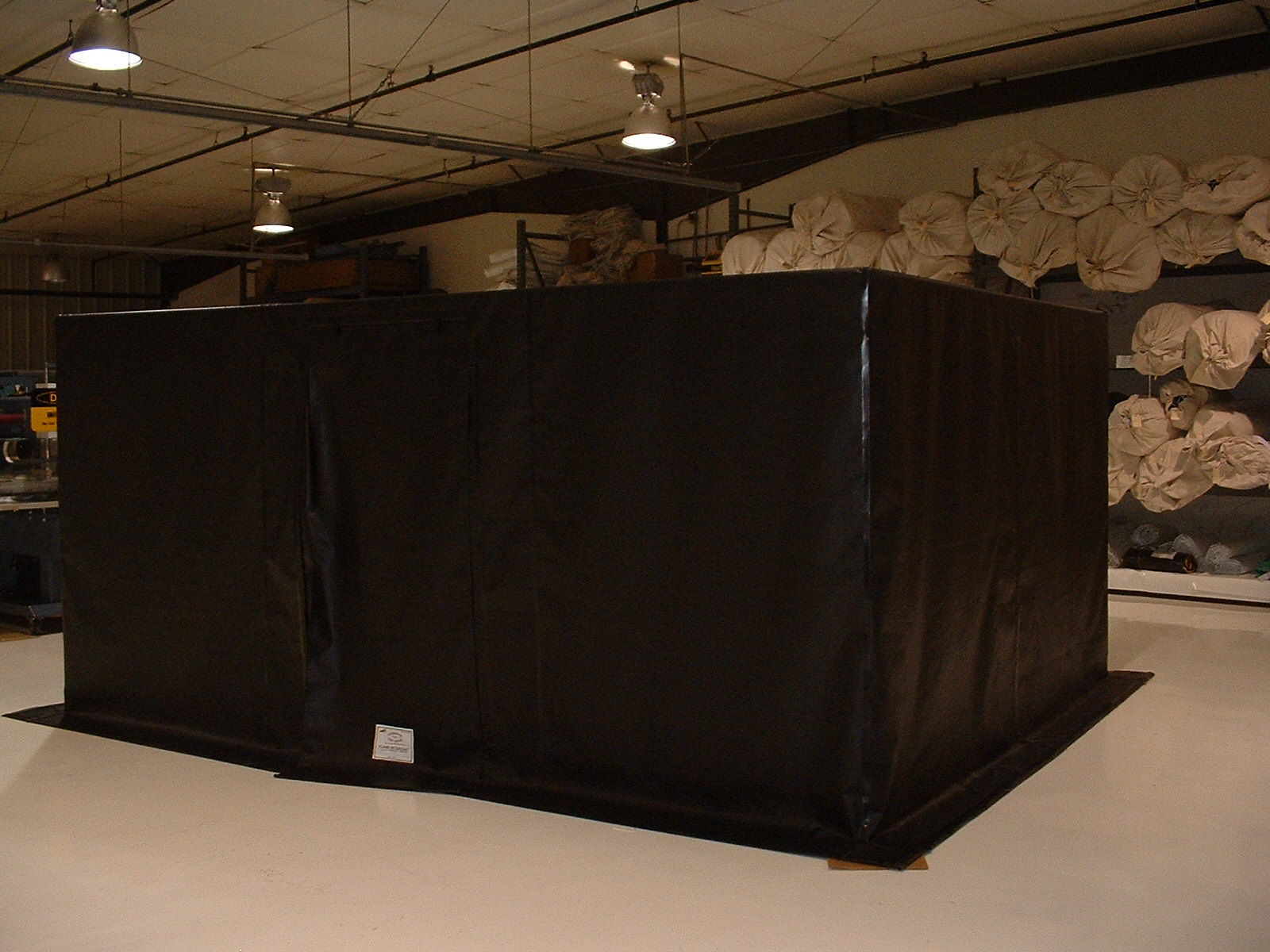 Manufacturing Inspection Tent/Custom Dark Room to Inspect Turbine Blades
