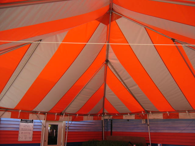 Celebration Frame Tent Interior Red and Tan New Fittings