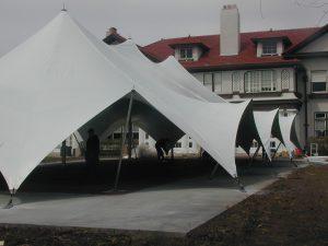 Kansas City Tension Tent (48x88), Wedding and Event Venue, Exterior No Side Walls