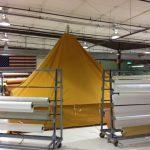 Ever put up a pyramidal indoors?