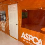 ASPCA Field Operation / Office Tent, Door Detail