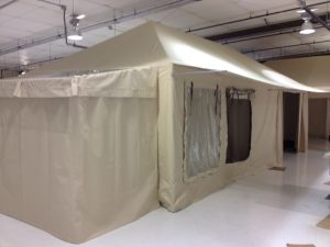 Glamping Tent, Exterior Showing Awning