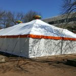 Pole Tent, Orange Trim