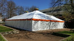 Pole Tent, Orange Trim