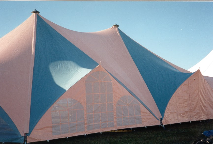 TensionTent, Peach and Teal, IFAI Show
