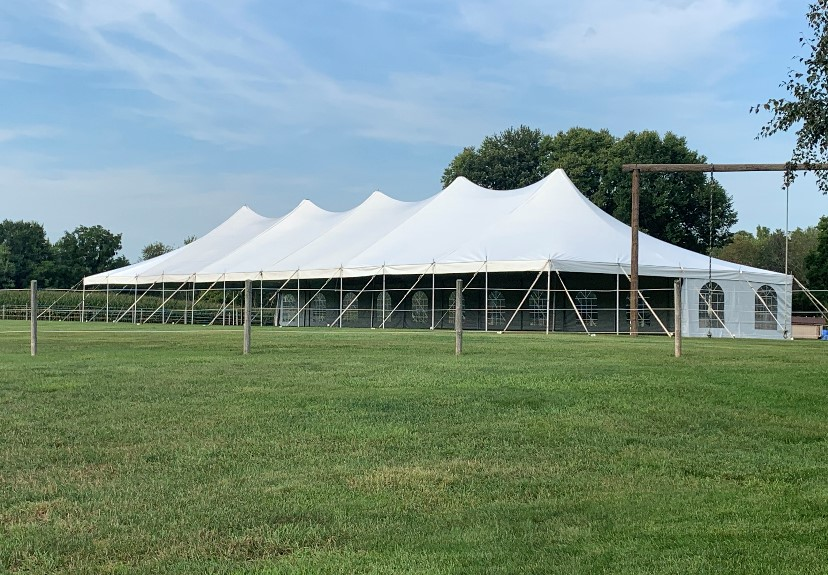 The Armbruster EuroTent makes a beautiful, elegant event space for an outdoor wedding.