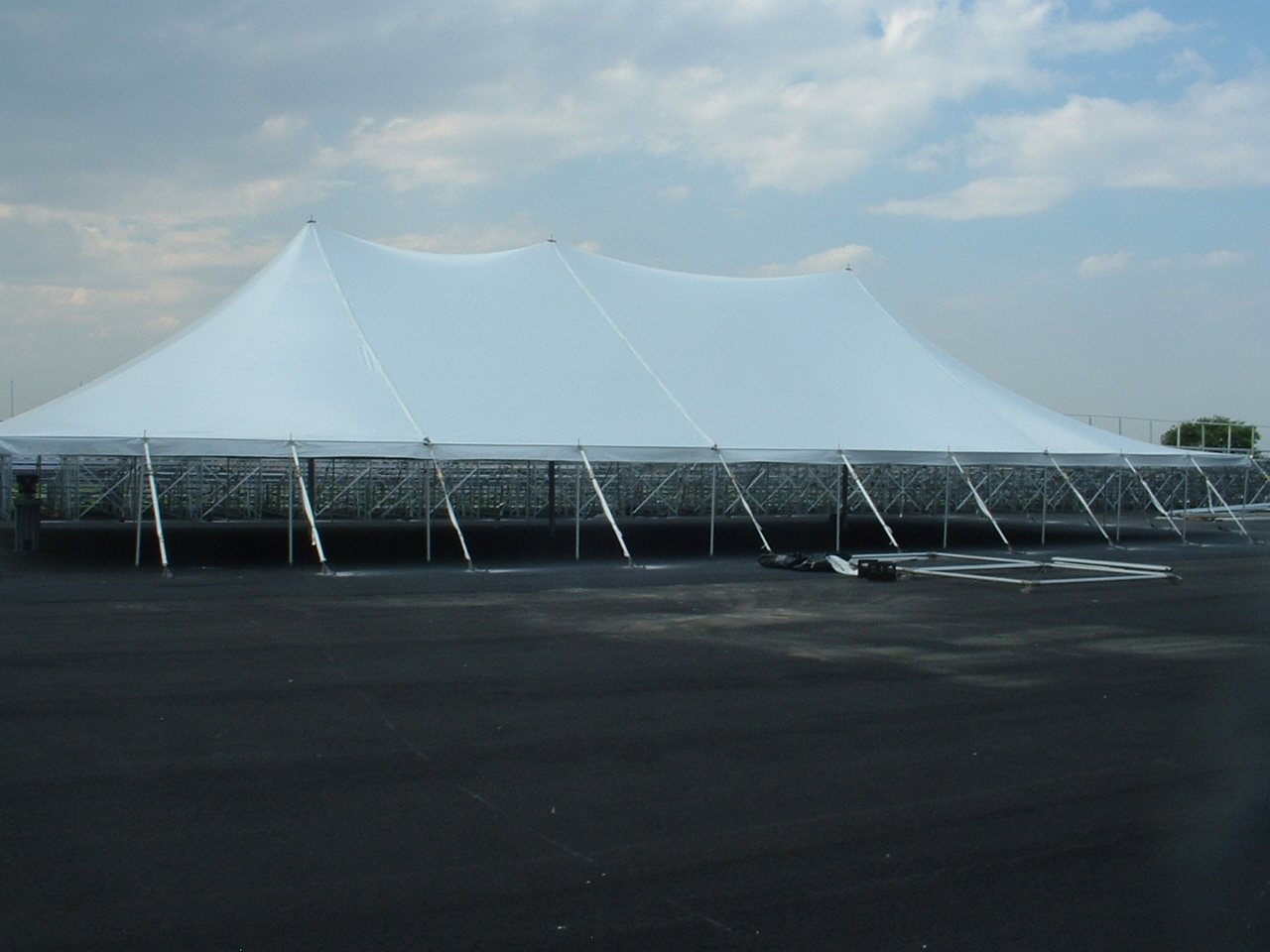 50ft EuroTent installed at an Airport in Brooklyn, New York