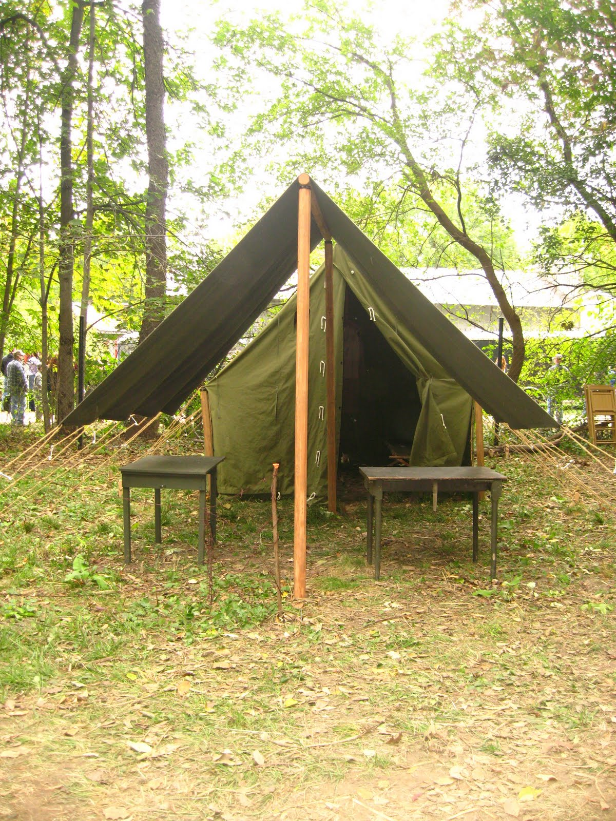 World War II (WWII) Small Wall Tent, with Small Fly Up Front