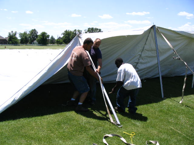 EuroTent Easter Seals Install June 2008