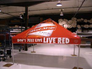 Tent Graphics, Red Stripe Beer Tent