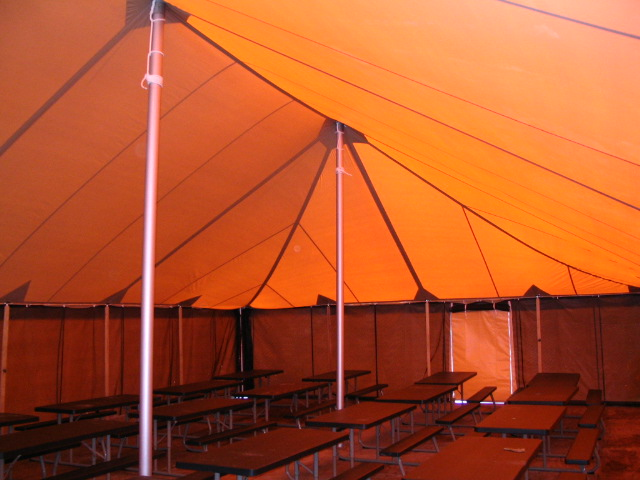 Military Tent, GSA, Tan Tent, Interior, March 2008