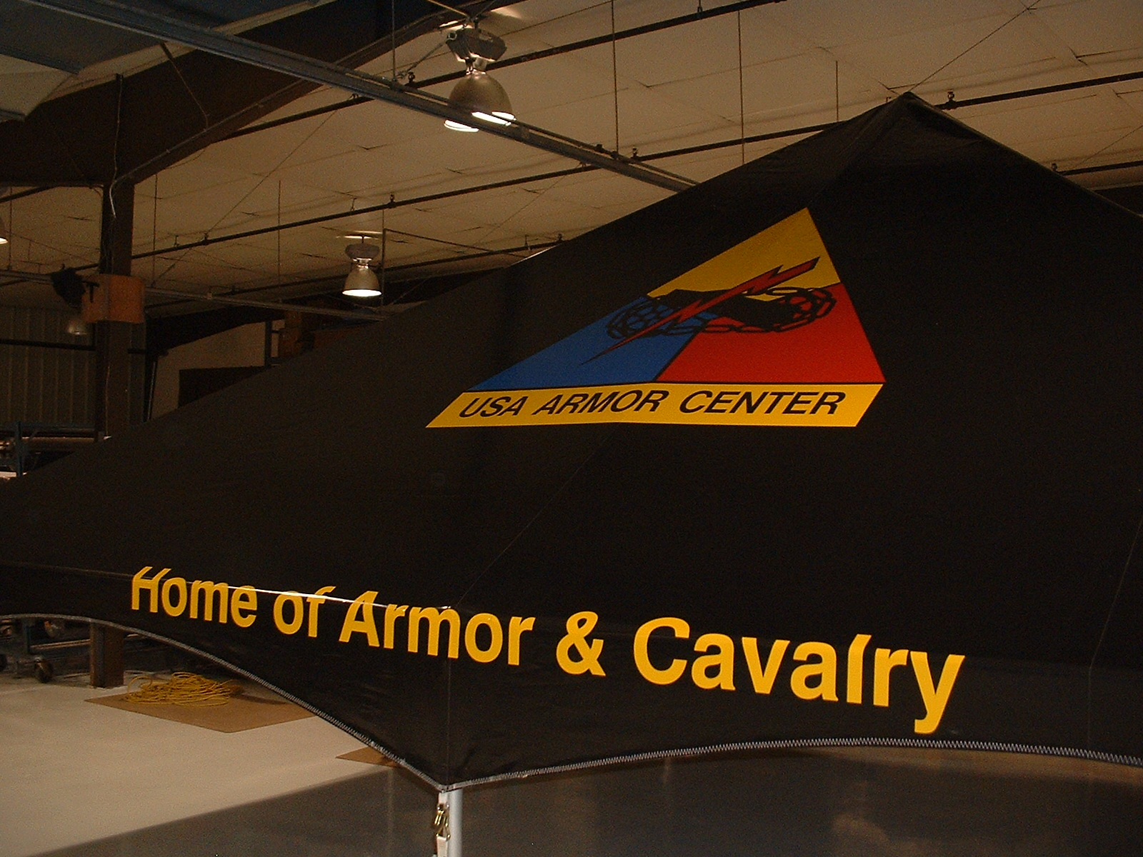 Military Tent, GSA, USA Armor Center, Home of Amor & Cavalry