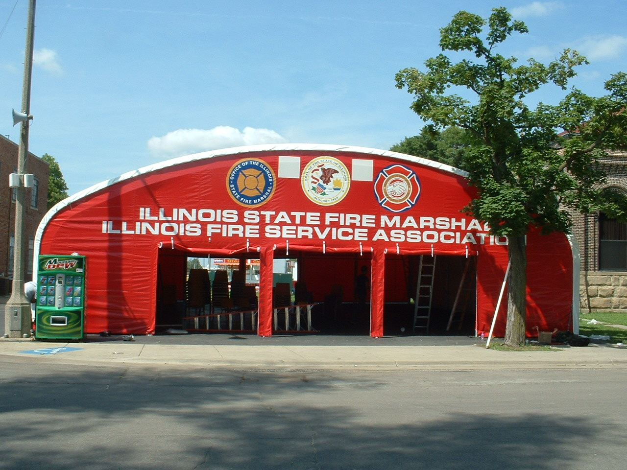 IL State Fire Marshall Illinois Fire Service Assc Snow Rated Structure with Graphics