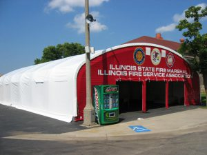 IL State Fire Marshall Illinois Fire Service Assc Snow Rated Structure with Graphics Side View