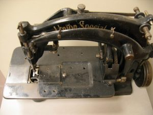 Union Special sewing machine used during World War II (WWII) to sew our wartime tents.