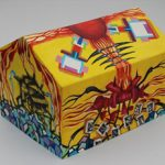 """Armbruster Tent painted by Nicolas Leiva, titled """"The arrival of Divinity,"""" for Haitian Earthquake Disaster Relief"""