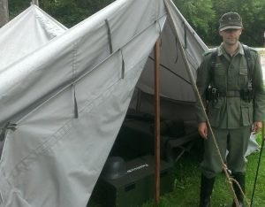 Gebirgsgruppenzelt - World War II (WWII) German Mountain Troop Tent - Doorway Open