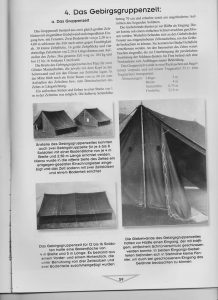 Page from German Book on German World War II Tents Showing Mountain Troop Tent