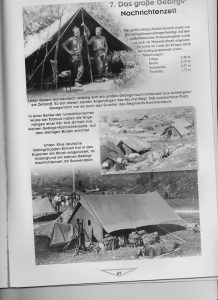 Page from German Book on German World War II Tents Showing Smaller Staff Mountain Tent