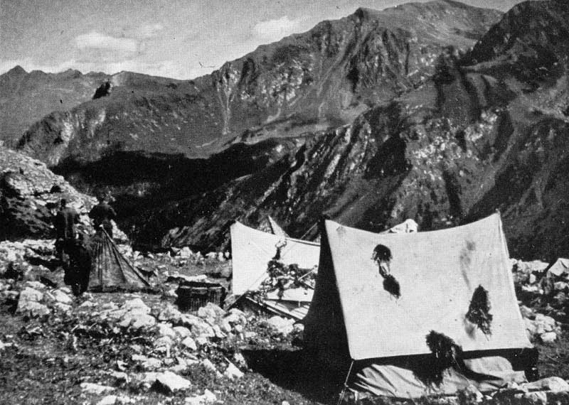 Historical Photo of Gebirgsgruppenzelt - World War II (WWII) German Mountain Troop Tent