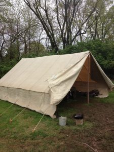Truppenzelt - German World War II (WWII) Troop Tent Doorway