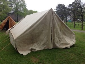 Truppenzelt - German World War II (WWII) Troop Tent Front, Doorway Closed