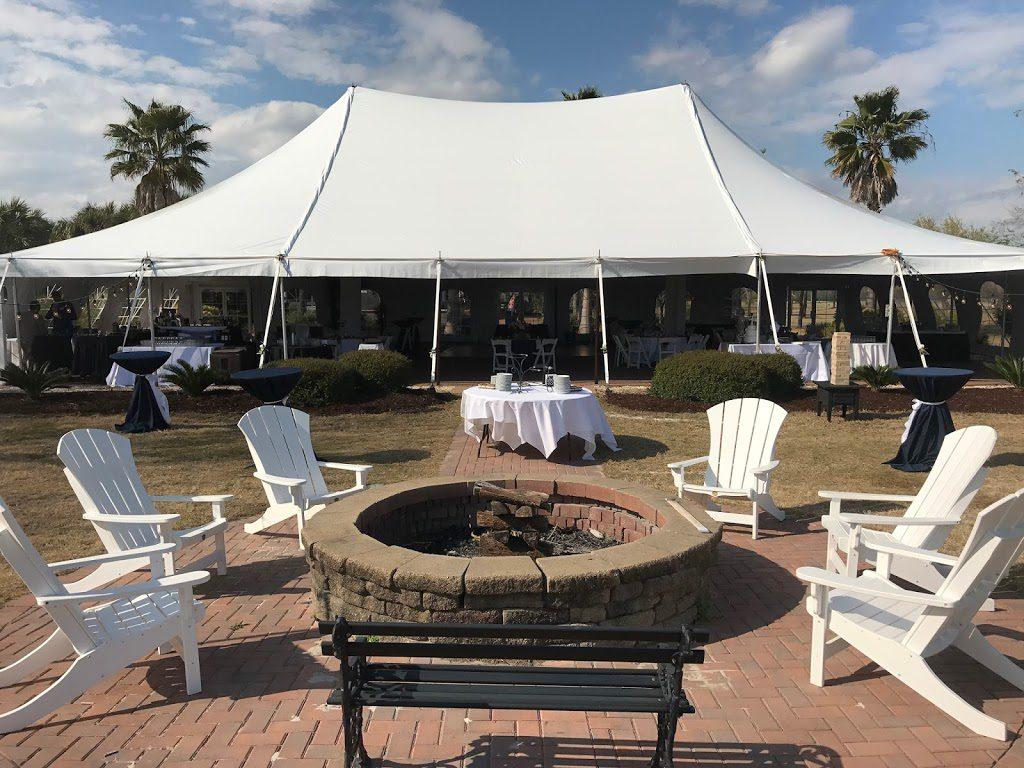 50x80 EuroTent Installed on the South Carolina Coast, Wedding Set-Up