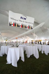 Example of 80ft EuroTent with air condition ducts run through tent.