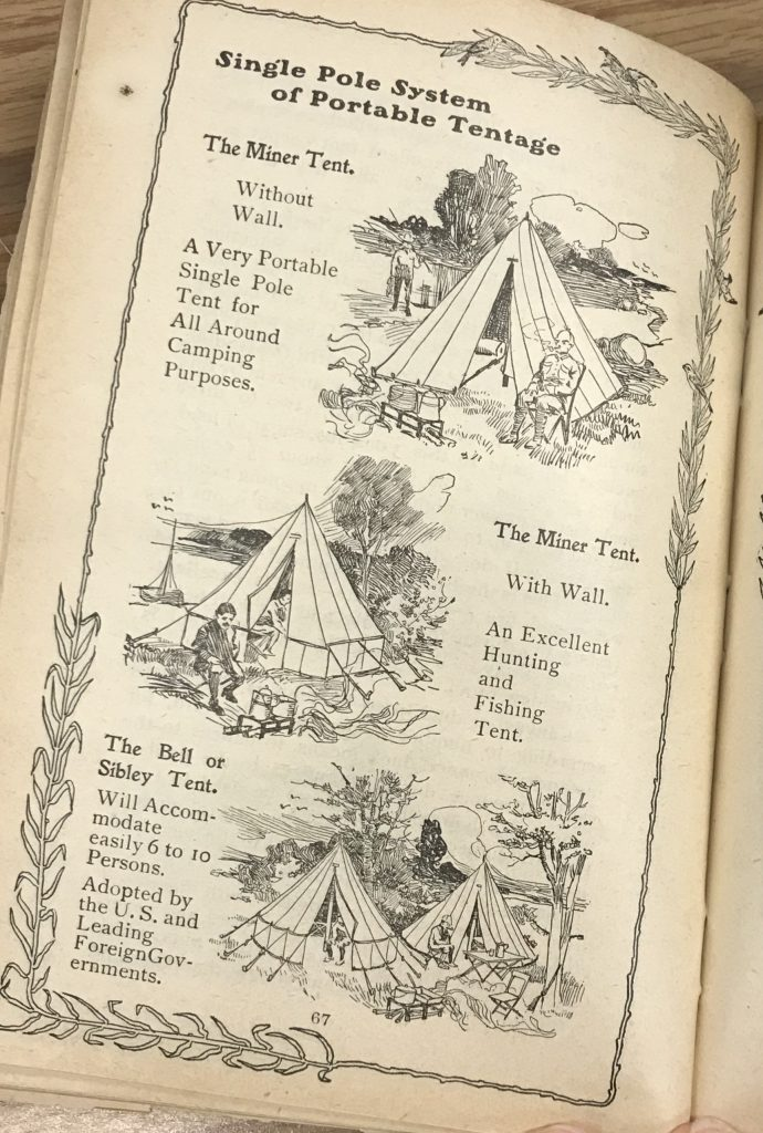 Camping Tents featured in The Complete Campers Manual, published by Armbruster Manufacturing in 1903