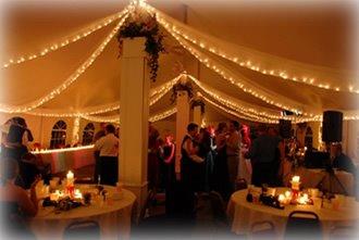 The Rail, Springfield, Illinois, Wedding with String Lighting