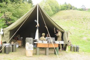 World War II (WWII) Large Wall Tent in the Field