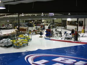 Armbruster Factory Floor. Our team uses streamlined processes to produce our American-Made tents.
