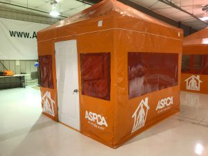 ASPCA office / field operation tent with graphics