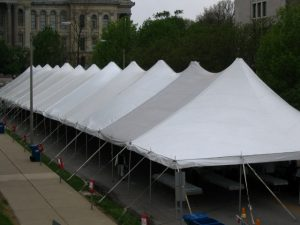 Euro Tent, Installed Downtown Springfield