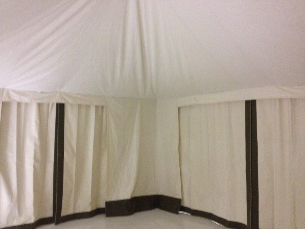 Glamping Tent, Interior, Divider Curtain, Canvas Liners