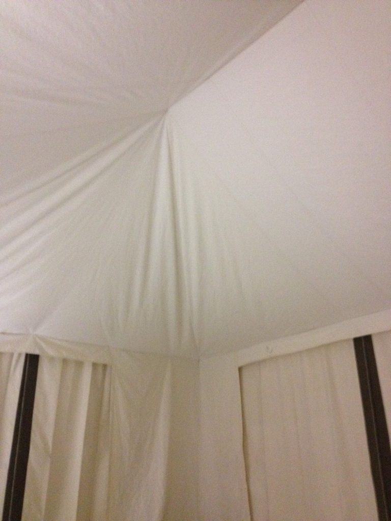 Glamping Tent, Interior, Canvas Liner, Ceiling View