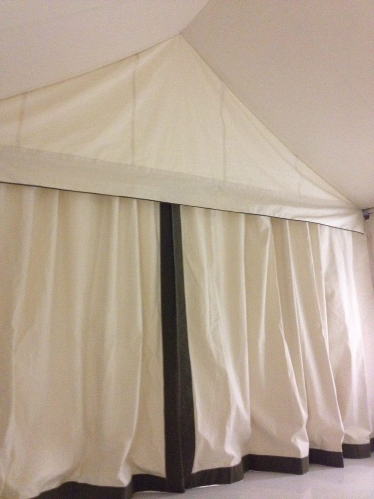 Glamping Tent, Interior, Divider Curtains, Canvas Liner