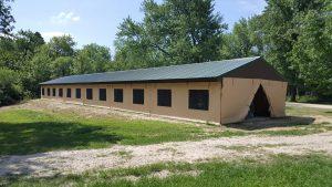 Side Windows on Quincy Pavilion Enclosure Exterior