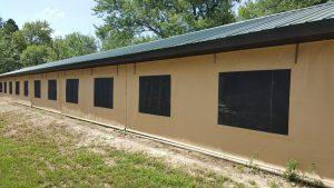 Side Windows Detail on Quincy Pavilion Enclosure Exterior