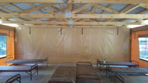 Quincy Pavilion Enclosure Interior Roof Detail