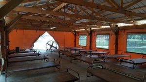 Quincy Pavilion Enclosure Interior Showing Doorway