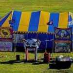 Circus tents made for Hell's a Poppin' Circus