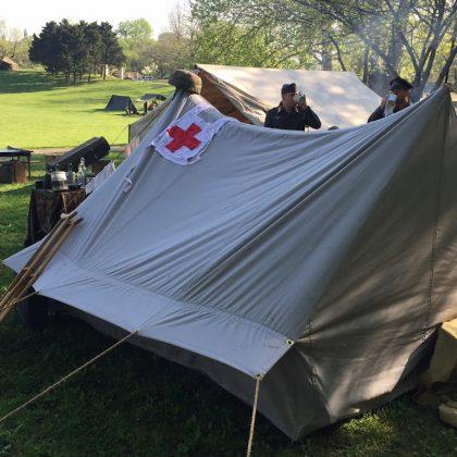 World War II German Smaller Staff Mountain Tent - Gerbirgsnachrichtenzelt