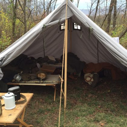 German World War II Mountain Troop Tent - Gebirgsgruppenzelt