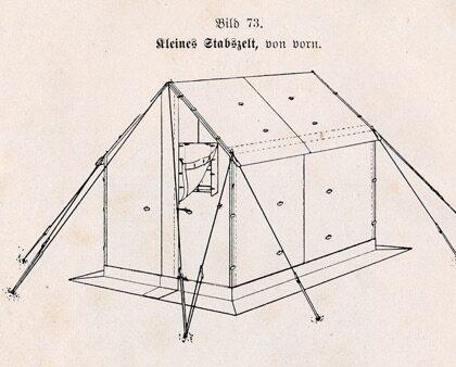 German World War II Small Staff Tent