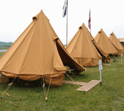 World War II British Conical Tents