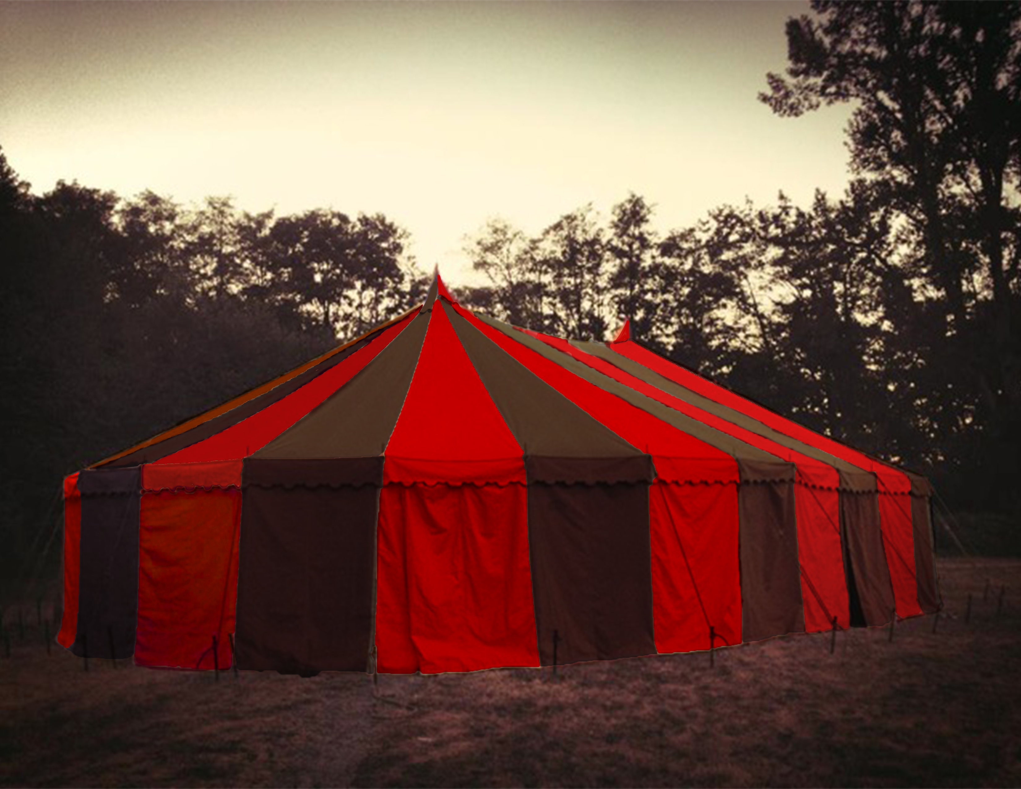 Black and Red Circus Tent